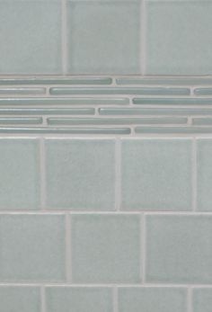 """Ice Border (12x18)  - could see doing glossy subway tiles with a """"Cotton"""" [Fireclay color] glossy border like this."""