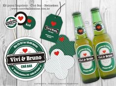 Kit digital de Chá Bar para Imprimir tema Heineken
