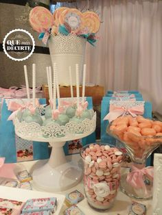 Floral treats at a shabby chic 1st birthday party! See more party planning ideas at CatchMyParty.com!