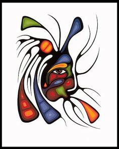 Red Lake Woodland Arts Festival: A Tribute to Norval Morrisseau and the Woodland Artists in 20 DAYS! Inuit Kunst, Inuit Art, Native Art, Native American Art, Art Floral, Art Du Vin, Festival D'art, Claudia Tremblay, Kunst Der Aborigines