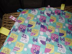 Holiday Sale Owl Tag Blanket by DixieKRoseBoutique on Etsy