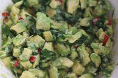 Pitsiniekka | Avocado Pasta Sauce Avocado Pasta, Pesto, Sprouts, Vegetables, Cooking, Food, Kitchen, Essen, Vegetable Recipes