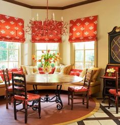 Decorate Dining Room With Orange Color