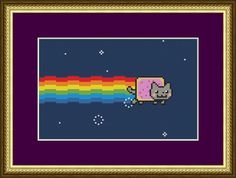 Nyan Cat  Counted Cross Stitch Pattern by PurpleStitching on Etsy, $4.00
