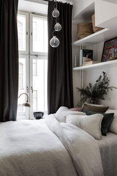 my scandinavian home: Bedroom in a small Swedish space, that's big on cosiness! my scandinavian home: Bedroom in a small Swedish space, that's big on cosiness!