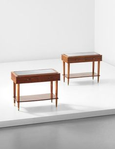 Gio Ponti, Pair of side tables, from the Villa La Quiete dell'Alpino,