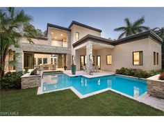 Modern home with pool in the Moorings | 611 Springline Dr, Naples, FL 34103 - MELINDA GUNTHER: modern naples