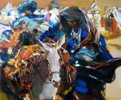 Artista Russo viaja pelo Oriente Médio e Ásia e usa pintura para retratar as emoções de sua viagem