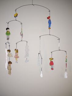 Cut Paper Hanging Mobile
