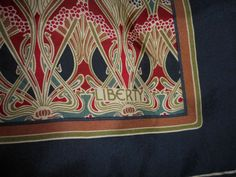 Liberty of London Vintage Art Nouveau Ianthe Design Square Silk Scarf | eBay