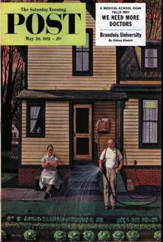 Saturday Evening Post - 1951-05-26: Tending the Garden (Stevan Dohanos)