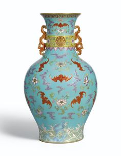 Energetic Fine Chinese Famille Rose Porcelain Vase Qianlong Marked Painting Peach 106 Vases