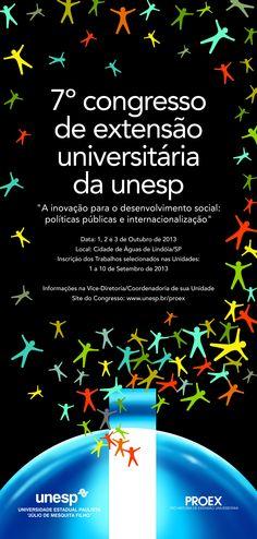 7º Congresso de Extensão Universitária da #Unesp ocorre de 1 a 3 de outubro de 2013 em #AguasdeLindoia