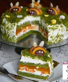 ciasto szpinakowo-brzoskwiniowe