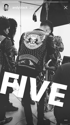 The leather is back, from Andy's Insta story