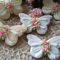 Butterfly cookies, birthday cookies cookies with roses, flower cookies, gingerbread cookies