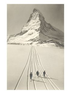 Skiers Leaving Matterhorn Posters at AllPosters.com