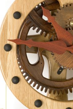 Wooden gear clock. Ok not so simple, but my hubby is obsessed with making one of these.