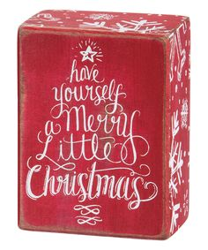 This 'Have Yourself a Merry Little Christmas' Box Sign by Primitives by Kathy is perfect! #zulilyfinds