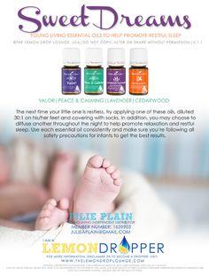 Young living essential oils sleep cream lemondropper