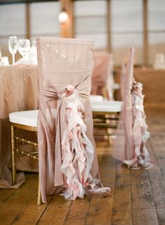 Chair covers- I have a weird hate relationship with them. I don't like them when they cover the whole chair (usually because the chair is ugly or doesn't fit the colour scheme), but this isn't so terrible.