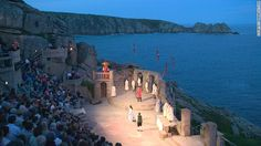 The Minack Theatre (Cornwall, UK) Ocean views and roaring waves might be distracting but they also add to the drama.