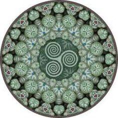 year of mandalas: Celtic Spiral Mandala