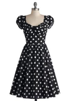 Fun of Those Days Dress. After awakening to brilliant sunshine, youre positive that today is going to be as delightful as this polka-dotted dress from Stop Staring! #black #modcloth