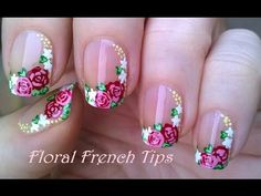 Side French Manicure Tutorial In Flower Design Todays Nail Art Video Is A Floral Using Acrylic Paint Firstly Apply Base Coat