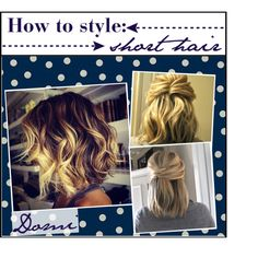 how to style: short hair