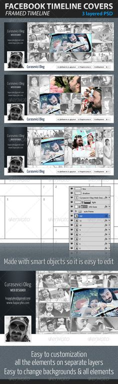 Framed Facebook Timeline Covers  #GraphicRiver         High Quality Timeline Covers   3 layered PSD files, 850×315   Made with smart objects so it is easy to edit   Easy to customization, all the elements on separate layers   Easy to change backgrounds & all elements   *Free Font used: Yanone Kaffeesatz  .fontsquirrel /fonts/Yanone-Kaffeesatz   Easy work and good luck!               Easy work and good luck        Don't forget to rate if you like it!    …