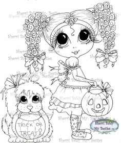 This is for the black and white line art digi stamp only.  You may use the…