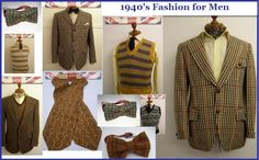 Men's Vintage Clothing for Sale | 1940s Menswear .. Getting the look. Just love the jackets from the 40's.