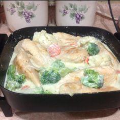 Pollo Alfredo con Brócoli