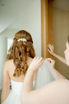#hairstyles  Photography: L Hewitt Photography - landmhewitt.com  Read More: http://www.stylemepretty.com/2013/08/09/baltimore-wedding-from-l-hewitt-photography/