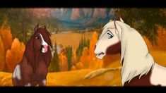 Strawberry delight and Rain Spirit The Horse, Spirit And Rain, Spirit Drawing, Disney Horses, Horse Animation, Horse Facts, Horse Books, Spirited Art, Disney Nerd