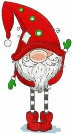 Gnome in red phrygian cap and boots machine embroidery design. - Gnome in red phrygian cap and boots machine embroidery design. Christmas Towels, Christmas Aprons, Christmas Gnome, Christmas Art, Christmas Ornaments, Christmas Bathroom, Paper Embroidery, Learn Embroidery, Vintage Embroidery