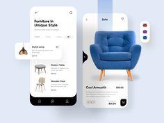 Mobile Ui Design, Ui Ux Design, Ux Design Principles, Apps, Ui Design Inspiration, User Interface Design, Chor, Mobile App, Furniture