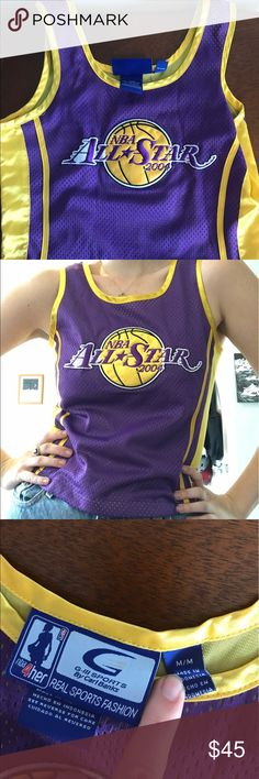 Vintage 2004 Lakers All Star Game Women's Jersey Cropped fitted jersey top, perfect condition. Official merchandise from the 2004 NBA All Star game! Perfect for all you lady Laker fans! Would also fit a child. Tops