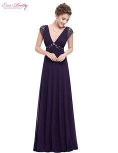 Evening Dresses Ever Pretty 08068 Sexy V Neck Lace Black Rhinstones Prom Maxi  Prom Evening Dress For Women