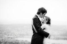 Dream Wedding on the Uetliberg. couple, love bw