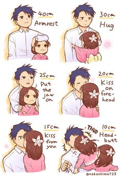 Funny Anime Couples People Ideas For 2019 Cute Couple Comics, Couples Comics, Cute Comics, Funny Comics, Cute Couple Art, Love Story Anime, Anime Love Couple, Tall Boy Short Girl, Short Girls