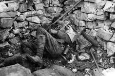 An Italian soldier has been struck dead during the Ninth Battle of the Isonzo FriuliVenezia Giulia 31st October 4th November 1916