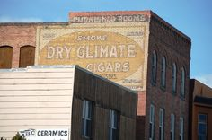 Smoke Dry Climate Cigars ghost sign, Butte, MT