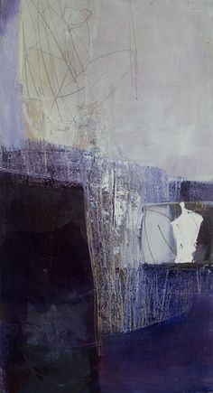 'bleuleger' by Swiss painter Joanna Ingarten-Mouly (b.1961). 130 x 80 cm. via the artist's site