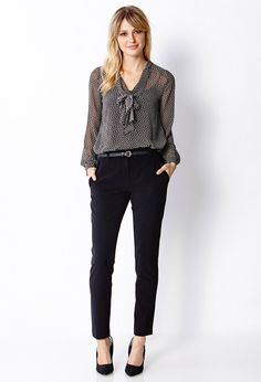 Sophisticated Woven Pant | FOREVER21 Business casual for the fashionista #BusinessCasual #Love21 #OOTD