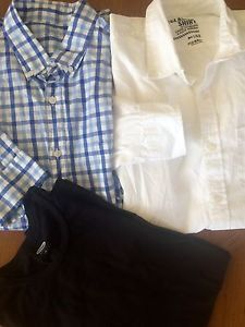 Lot Mens Shirts Size Large Old Navy JCrew Very Nice Bright White Great Lot | eBay