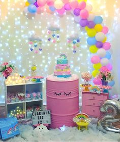 25 ideas of faça você mesmo - Birthday FM : Home of Birtday Inspirations, Wishes, DIY, Music & Ideas Unicorn Themed Birthday, Baby Girl Birthday, Rainbow Birthday, Balloon Decorations Party, Birthday Party Decorations, Deco Ballon, Baby Party, Ideias Diy, Bella