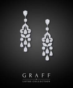 Graff Diamonds: Lotus Scroll Earrings