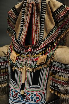 traditional Inuit skin and bead parka @Museum of the American Indian.